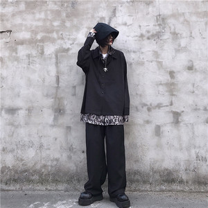 【トップス】韓国系シンプルカジュアル折襟シャツ