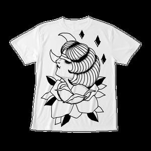 フルグラフィックTシャツ ROSE GIRL ホワイト