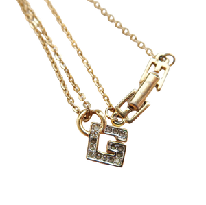 ONLY ONE【VINTAGE ACCESSORY】GIVENCHY ラインストーンロゴネックレス