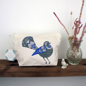 Fantail Bird - Make-Up Pouch