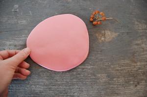 みずたまりプレート【ももいろ】|wakako ceramics