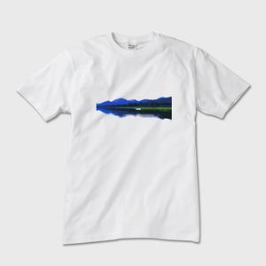メンズTシャツ カナダ・ユーコン川 白