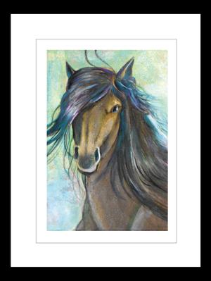 プリント額絵:我妻邦恵作「馬」