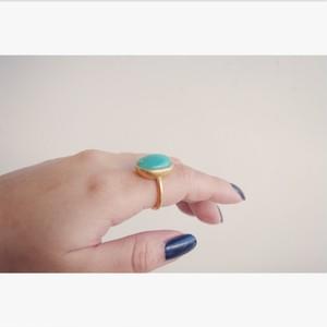 Amazonaisite ring (アマゾナイト) #13