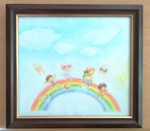 虹と子どもたち