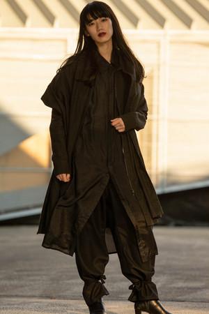 20SS Stole Coat BLACK
