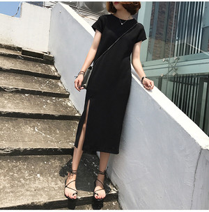 Tシャツ風ワンピース SHD191601
