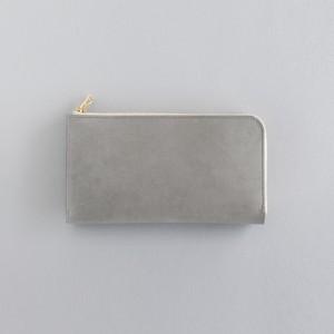 革の財布L グレー
