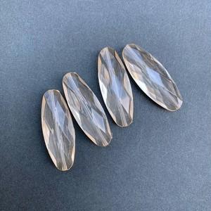 ナツメ型ダイヤカットクリアイタリアビーズ