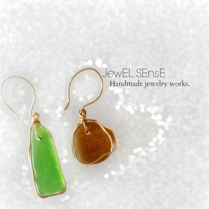 Seaglass jewelry pierce.