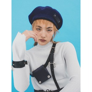 18 wool beret  navy