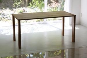 日本の木のダイニングテーブル150