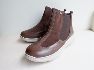 スリッポンショートブーツ ブラウン H2.5cm