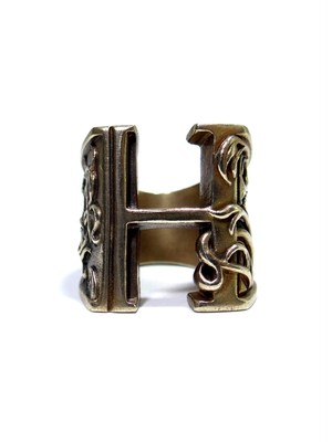 alphabet ring#H (Brass ・ 真鍮) -アルファベットモチーフ リングH-