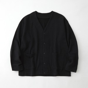 LOOPWHEELER × WM SWEAT CARDIGAN  - BLACK