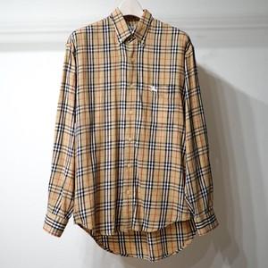 90's BURBERRY Men's Shirt バーバリー メンズ コットンシャツ サイズ  S