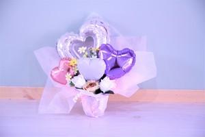 結婚式やお誕生日のお祝いに卓上バルーンギフトI(バルーンアレンジ) 送料込み 引き取りの場合3,400円
