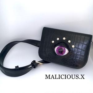 eye waist bag / violet