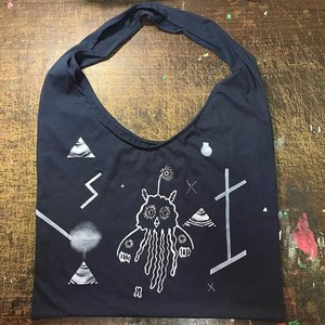 Jellyfish Planet shoulder bag navy