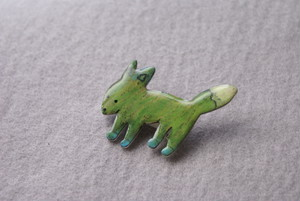 «crayon≫ Fox brooch