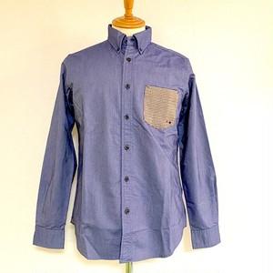 Oxford Switch-Pocket BD Shirts Blue