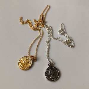Silver925 coin chain necklace 0219