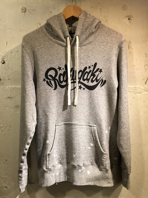 RAKUGAKI Main Logo PAINT & Damage Parka Heather Grey x Black