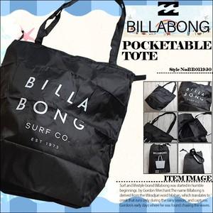 BB011930 ビラボン 新作 ポケッタブルECOバッグ トートバッグ メンズ デイリー タウンユース 黒 ブラック クリーンロゴ POCKETABLE TOTE BILLABONG
