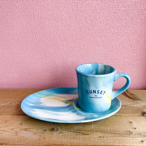 WTW × ayakawasaki   MUG&PLATE SET    -BLUE-