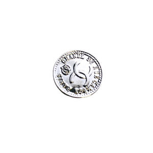 【VINTAGE CHANEL BUTTON】アンティークシルバー ロゴ ココマーク ボタン 16mm