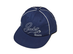 HELLRAZOR|SUCKS PIPING 6PANEL CAP - NAVY