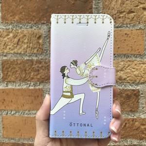 (iPhone)オーロラパドドゥ 手帳型スマホケース
