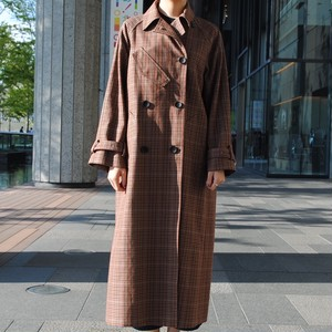 """期間限定""【CINOH】CHECK OVERSIZE TRENCH COAT"
