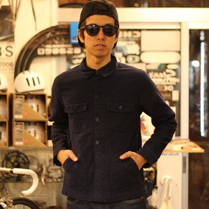 DEEPER'S WEAR DEFENDER FLANNEL SHIRT / NAVY