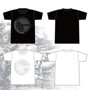 "T-shirt - Seahorse geometric ""Black"" / ""White""-"