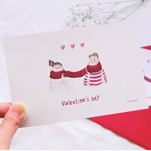 <バレンタイン限定>おそろいマフラー ポストカード