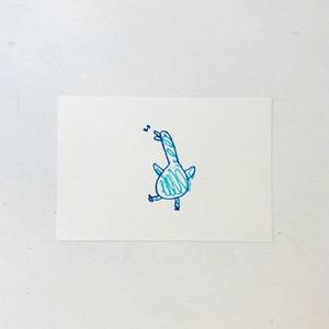 ポストカード ブルーじゃないバード(ゴキゲン)