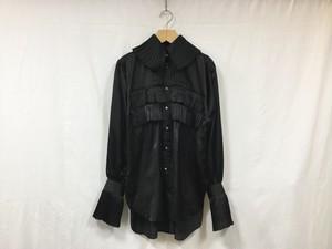 "JUN MIKAMI "" Silkcotton frill shirts "" BLACK"