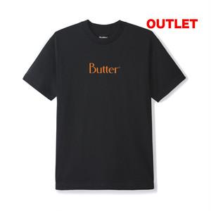 【アウトレット】BUTTER GOODS SPECKLE CLASSIC LOGO TEE BLACK サイズM