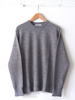 FUJITO Crew Neck Sweater Top gray,Charcoal,Burgundy,Yellow