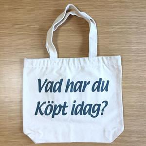 トートバッグ(今日は何を買ったの?) ナチュラルxダークグリーン