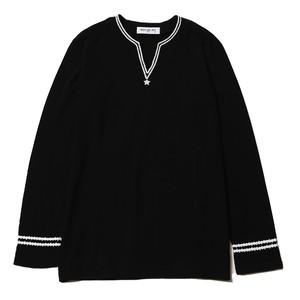 HIP STAR V-NECK L/S (BLACK) / RUDE GALLERY