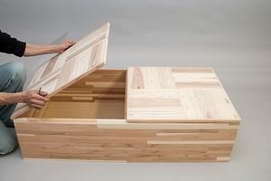 スギ集成材 組立式「小上がりユニット」ロングタイプ