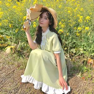 【ワンピース】スウィートファッション文芸スタイルシックワンピース
