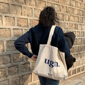 【ファッション小物】シンプルアルファベットプリントカジュアル帆布肩掛け/ハンドバッグ