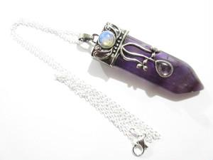 天然紫水晶【アメジスト】特大聖剣パワーストーン 天然石ソードネックレス 大粒ジュエリーペンダント