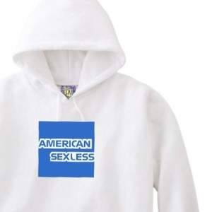 AMERICAN SEXLESS HOODIE WHITE