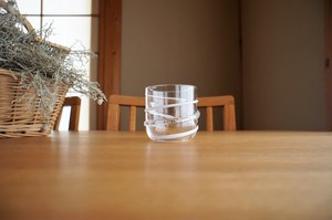 ガラス/銀の糸マーブルグラス(乳白色)小/空西あかね