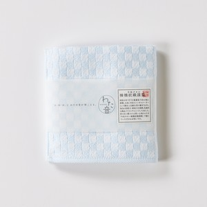 わた音ハンカチーフ/シュス織り/白青(シラアオ)1-61157-86-B