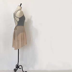 "◇""Tatiana"" Ballet Wrap Skirt -    Nude Ⅱ [Sheer]( ヌードⅡ [シアー])"